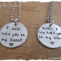Hold you in my Heart - Hand stamped Long Distance Relationship Set