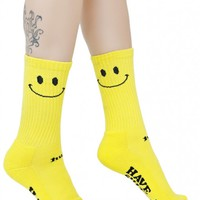 Smiley Crew Sock