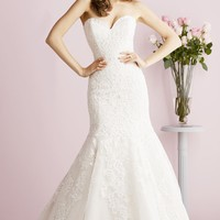 Strapless Sweetheart Mermaid Gown by Allure Bridals Romance