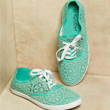 Twisted Crochet Lace Sneakers