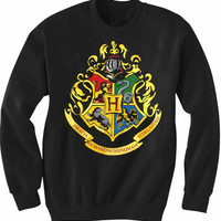 Hogwarts Logo Sweatshirt Super Soft DTG Print Sizes S, M, L, XL, XXL, 3XL