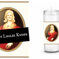 Leslie Knope Prayer Candle - Parks and Recreation - M'Lady Leslie Knope