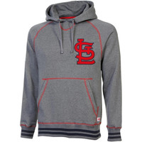 Stitches St. Louis Cardinals Brush Pullover Hoodie - Ash