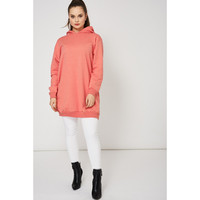 Coral Pink Oversized Hoodie