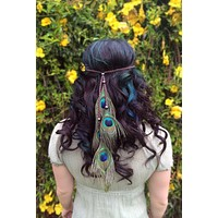 Peacock Feather Headband #B1028