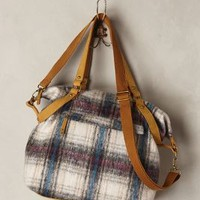 Iveta Plaid Shoulder Bag by Anthropologie Dark Turquoise One Size Bags