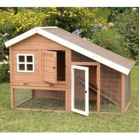 Precision Pet Cape Cod Chicken Coop, 62 by 32 by 42-Inch, Brown/White