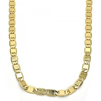 Gold Layered 04.63.1335.24 Basic Necklace, Polished Finish, Golden Tone