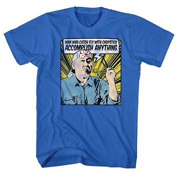 The Karate Kid T-Shirt Catch Fly With Chopstick Comic Royal Tee