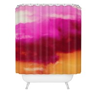 Caleb Troy Cherry Rose Painted Clouds Shower Curtain