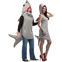 Sand Shark Hoodie & Dress Couples Costume