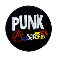 Punk Rock Anarchy Sign Patch Iron on Applique Alternative Clothing