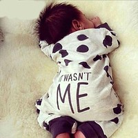 Baby Boy Girl Clothes born Toddler Long-sleeved Dot jumpsuit Infant Clothing set Outfits