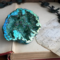 Green Apple Aura Geode