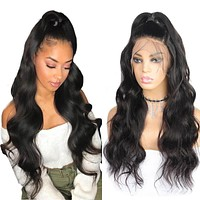 Brazilian 13x4 Lace Front Wigs Body Wave Human Hair Wigs Pre Plucked With Baby Hair