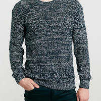 BLACK AND WHITE MESH SWEATER - Men's Cardigans & Sweaters - Clothing