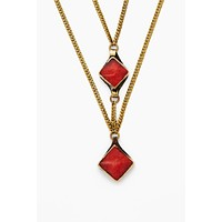 The Runaways Choker - Gold & Red
