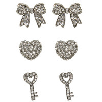 Trio Earring Set | Shop Jewelry at Wet Seal