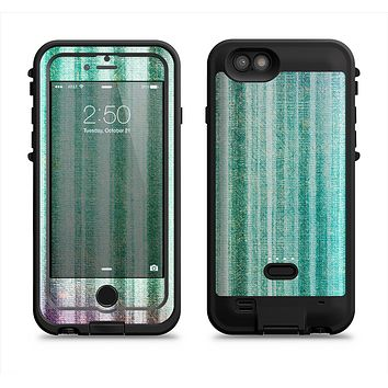 The Green and Purple Dyed Textile  iPhone 6/6s Plus LifeProof Fre POWER Case Skin Kit