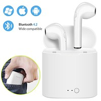 Best Seller i7s TWS Mini Wireless Bluetooth Earphones Stereo Earbud Headset With Charging Box Mic For Iphone Xiaomi All Smart Phone air pods