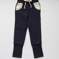 Vierra Rose Ella Eyelet Sweatpants in Navy - P5009