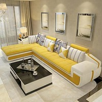 Modern L Shaped Corner Living Room Furniture