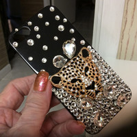 Luxury Bling Fox Crystal Diamond Phone Case Cover For Iphone 6 6S Plus 5 5C 4S Samsung Galaxy Note 5 4 3 2 S7 S6 Edge S5 S4 S3