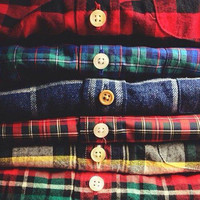 Mystery flannel plaid long sleeve any size tumblr by creepinitreal