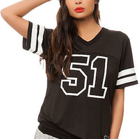 The 5150 Football Jersey in Black