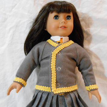 18 Inch/American Girl Doll Clothes-Harry Potter Replica Hufflepuff House Sweater
