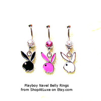 Playboy Bunny Dangling Navel Belly Ring * CUSTOMER FAVORITE