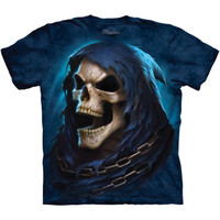 Grim REAPER LAST LAUGH The Mountain Big Face Angel Death Skull T-Shirt S-3XL NEW