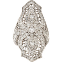 Pavé Diamond & White Gold Sarah Ring