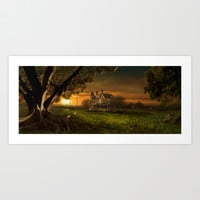 Sunset In The Countryside Art Print by Viggart