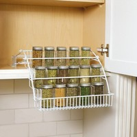 Rubbermaid Rubbermaid Pull Down Spice Rack, White (FG8020RDWHT), , White