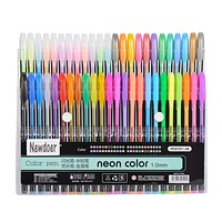 Newdoer 48 Packs Color Gel Ink Pens The Best Gel Pens Set for Adult Colouring Books Draw and Write with 1.0mm Tip Range