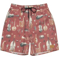 Brixton Havana Trunk Board Short - Men's Red,