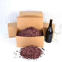 """BBQ BOX - """"Wine Soaked Oak Chips"""" from premiere Napa Wine Barrels - 100% recycled"""