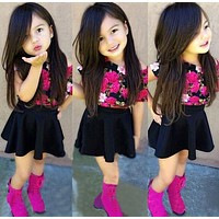 Beautiful baby girls dress sets Kids baby Clothes Skirt Suit Children girls Clothing