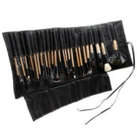 24pcs Professional Cosmetic Make Up Makeup Brush Blush Eyeshadow Set Kit with Black Leather Case  H4781 = 1932349700