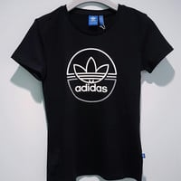 adidas Originals Women Black T-shirt