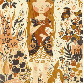 The Queen of Pentacles Art Print by Teagan White