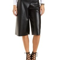 Faux Leather Culottes by Charlotte Russe
