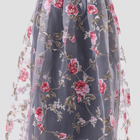 Through The Rose Garden Midi Skirt
