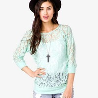 Banded Lace Top | FOREVER 21 - 2000025413