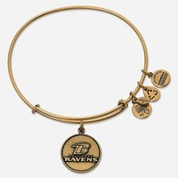 Women's Alex and Ani 'NFL - Baltimore Ravens' Adjustable Wire Bangle