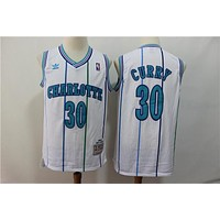 Charlotte Hornets 30 Dell Curry M&N Swingman Jersey