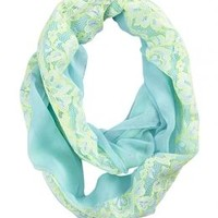 Pastel Lace Fabric Mix Scarf | Girls Fashion Scarves & Kimonos Accessories | Shop Justice