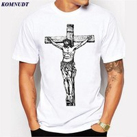Skateboard Skater t-Shirt  The Cross Man T Shirts Jesus Faith Short Sleeve T Shirts Casual Streetwear Fashion  Men T-Shirts Plus Size Tee AT_45_3