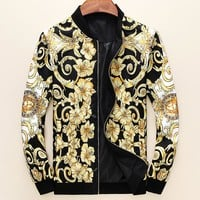 Boys & Men Versace Casual Long Sleeve Zip Cardigan Jacket Coat